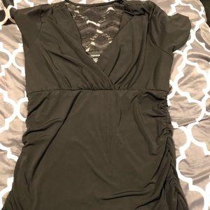 Torrid Black Lace Top